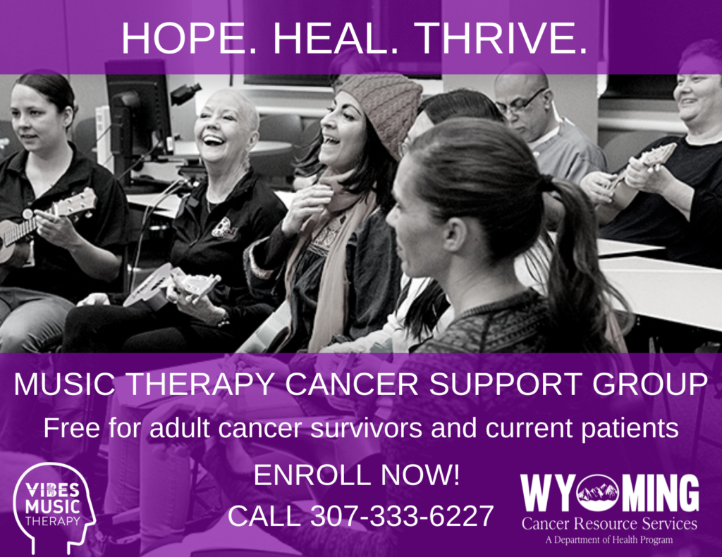 Hope. Heal. THrive. Music Therapy Cancer Support Group is available for you.