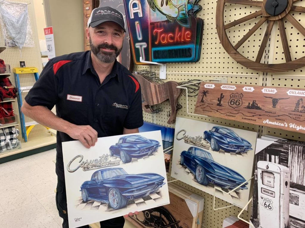 Shannon Watts is a Wyoming artist who can be commissioned to draw a concept of your project.