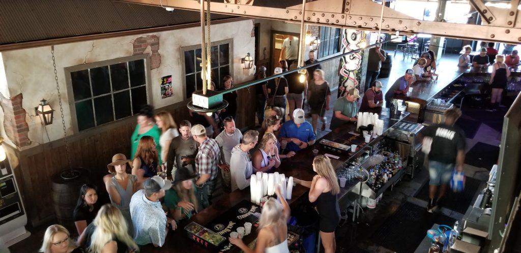 The crowd inside the Gaslight Social
