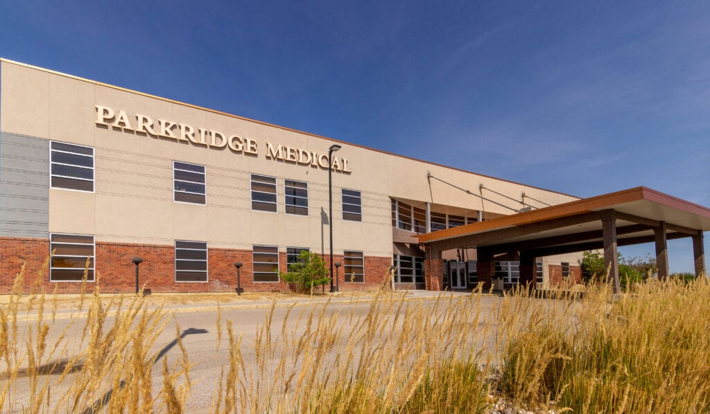 Outside view of Parkridge medical facilities