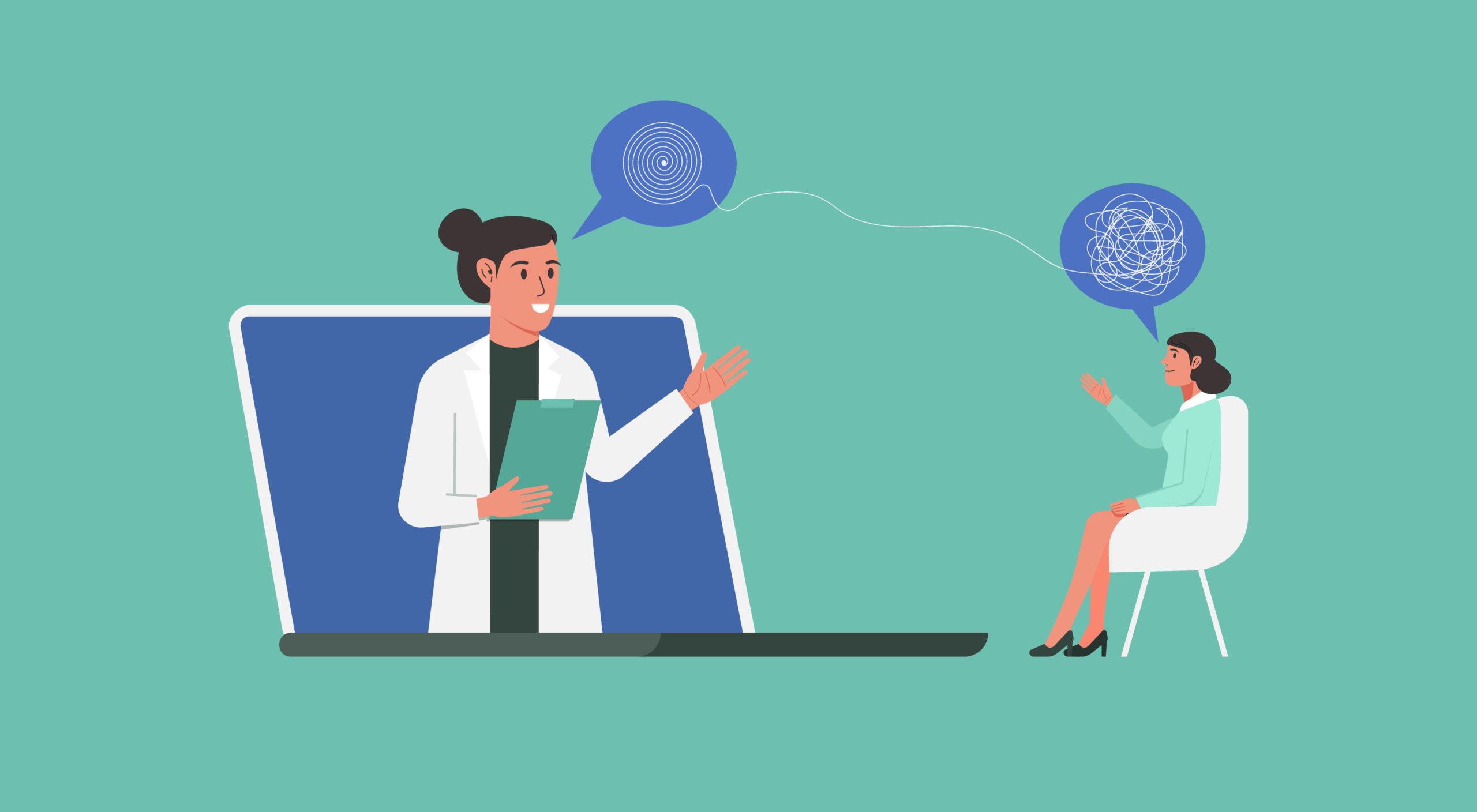 Doctor helps patient through telehealth